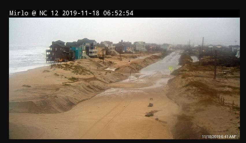 Storm Causes Flooding Along Outer Banks