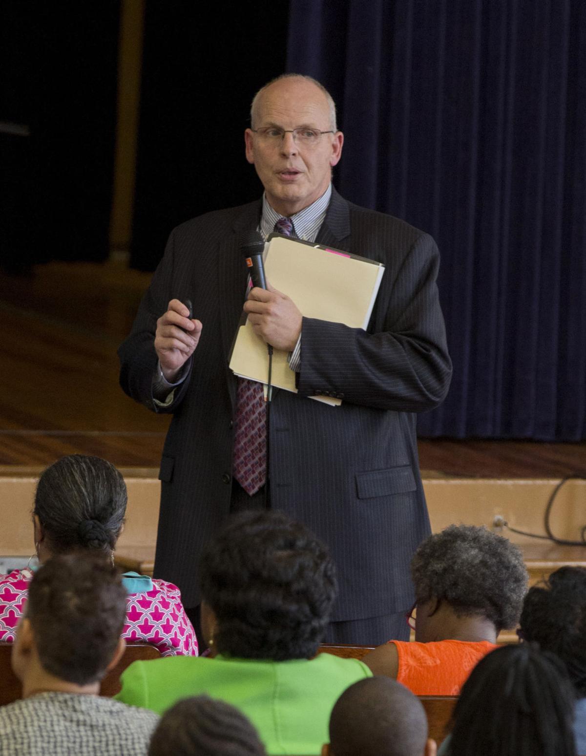 Public hearing at George Mason Elementary School