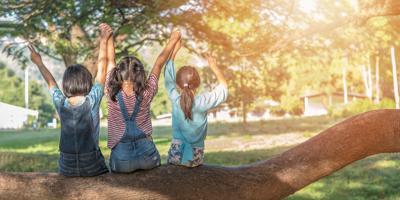 Children friendship concept