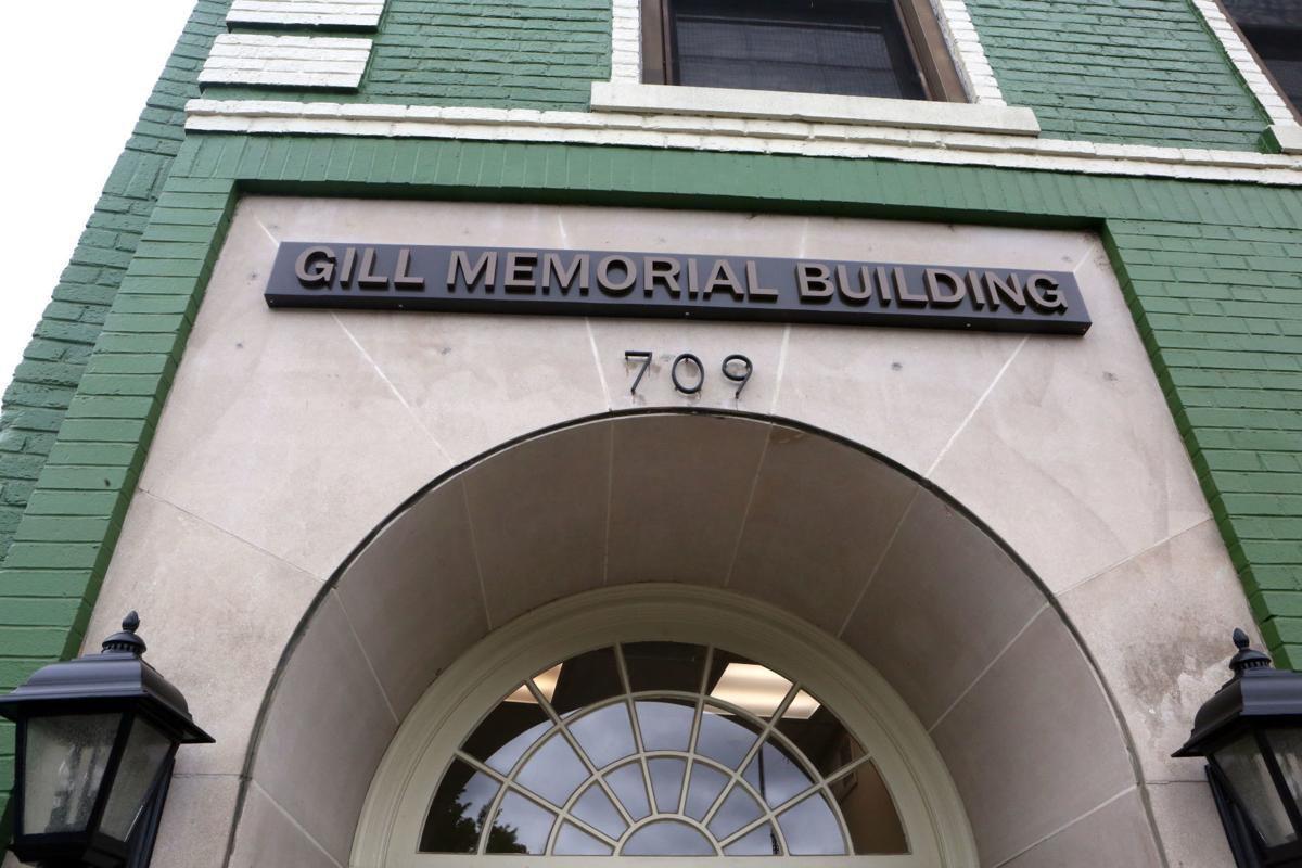 Gill Memorial building in downtown Roanoke