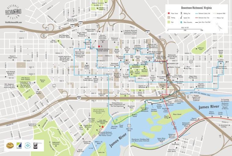 Liberty Trail Map richmondcom