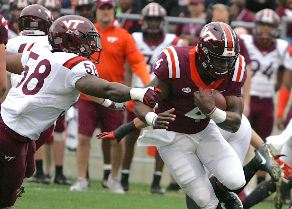 huge discount 58c66 6279f Spring game shows Virginia Tech's Quincy Patterson still has ...