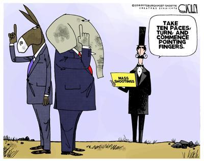 Editorial cartoon, Aug. 8, 2019