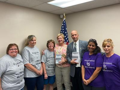 Members of M.O.M.S. and Mecca-Mann Mission met with the Elk County Commissioners 7-20-21