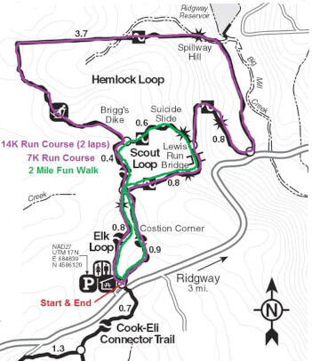 Trick or Trail Map