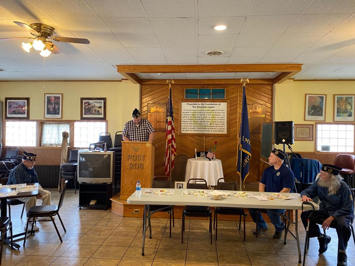 Tom Fullem leads the POW/MIA ceremony at the American Legion on Sunday
