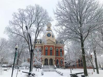 The Elk County Courthouse in Winter