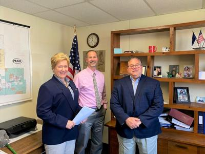 PA Representative Mike Armanini met with Elk County Commissioners Fritz Lecker and Matt Quesenberry