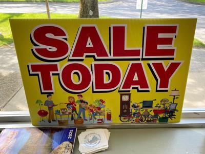 Yard Sale signs at Ridgway Record