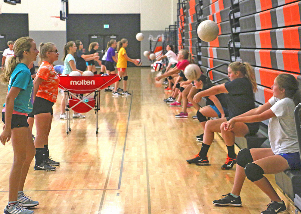 Aspiring volleyball stars spend week practicing fundamentals