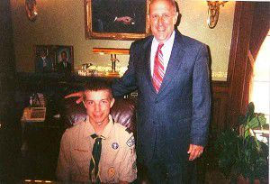 Meeting with Governor earns a merit badge