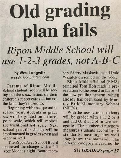 Editorial: Best report cards have letter, number grades — and comments -1