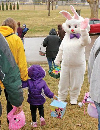 'Look, Mommy; it's the Easter bunny!'
