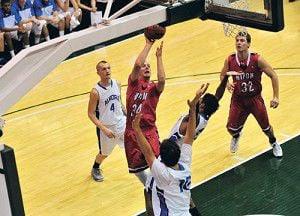 Red Hawk men bounce back strong to finish tourney with 1-1 record