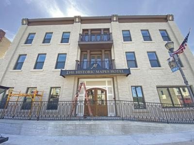 Historic Mapes Hotel nears re-opening