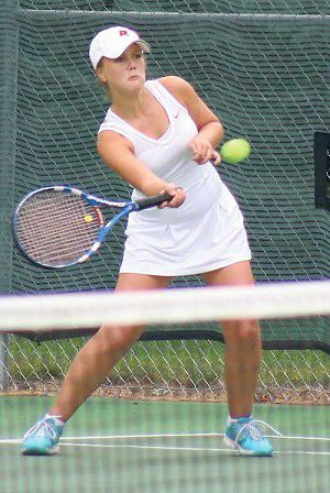 Girls tennis: Brumley wins conference title