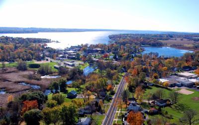 Green Lake - aerial view