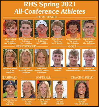 Ripon High School Spring 2021 All-Conference Athletes