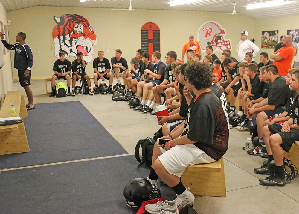 Getting back to work: RHS football team returns to field