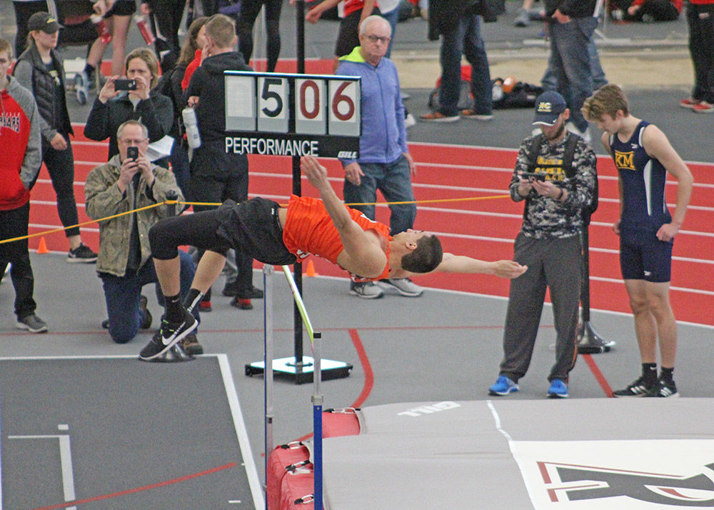 Tiger boys' track and field team finishes second at Ripon College indoor meet