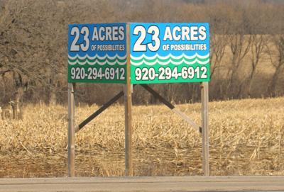 Green Lake Highway 23 Industrial Park sign gets a facelift