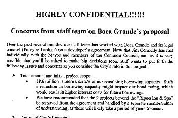 Ripon was warned, part 1: Consultants, staff said 'wait' on '09 Boca deal