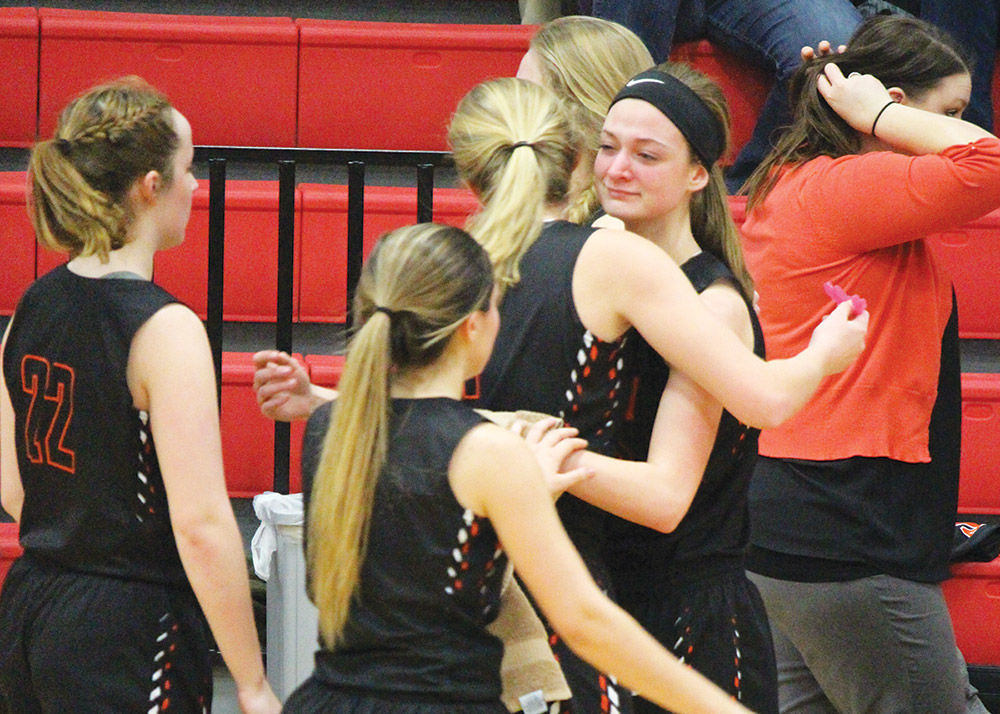 Girls' season ends in regional quarterfinals with 54-35 loss to Mayville