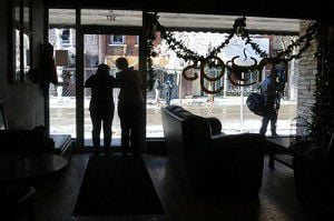 How were downtown shops impacted by the fire?