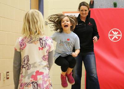 Students jump for the heart & hit teachers with pies