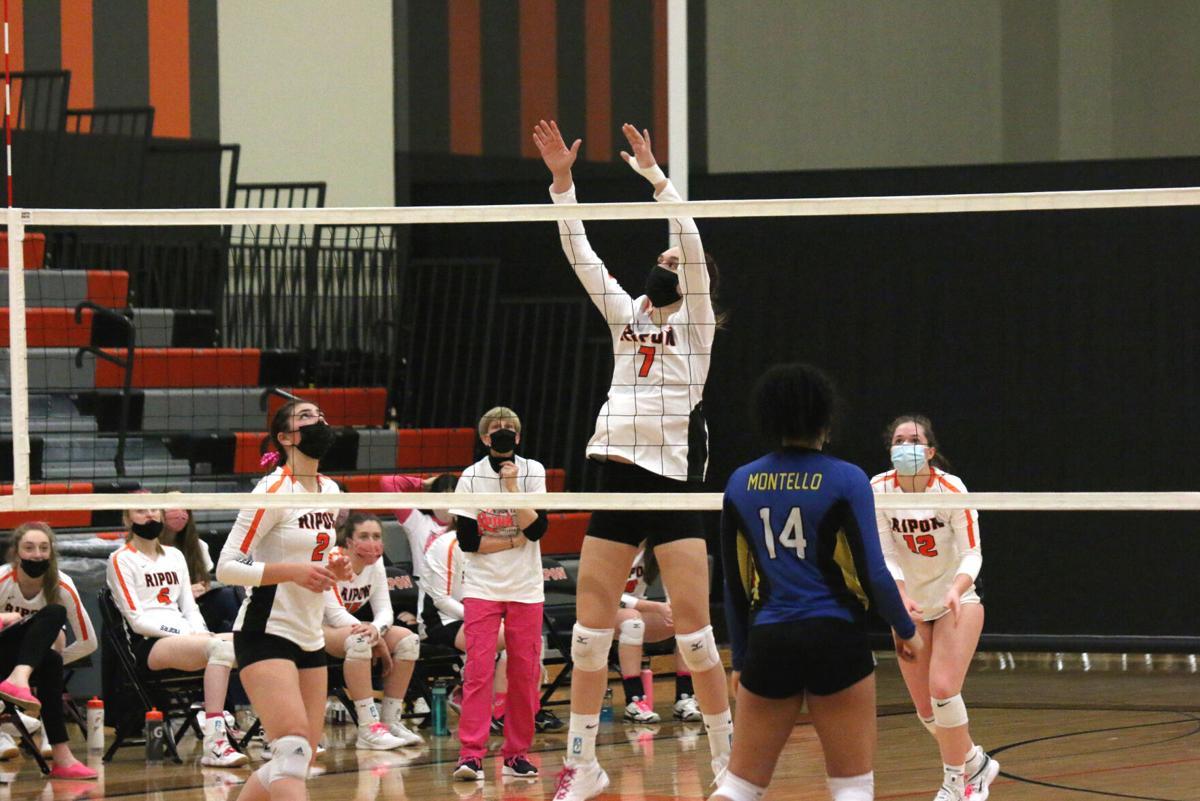 Ripon High School volleyball vs. Montello — March 29, 2021.JPG