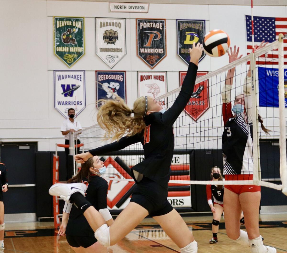 Ripon High School volleyball at Portage Invitational — Oct. 2, 2021 (1).jpg