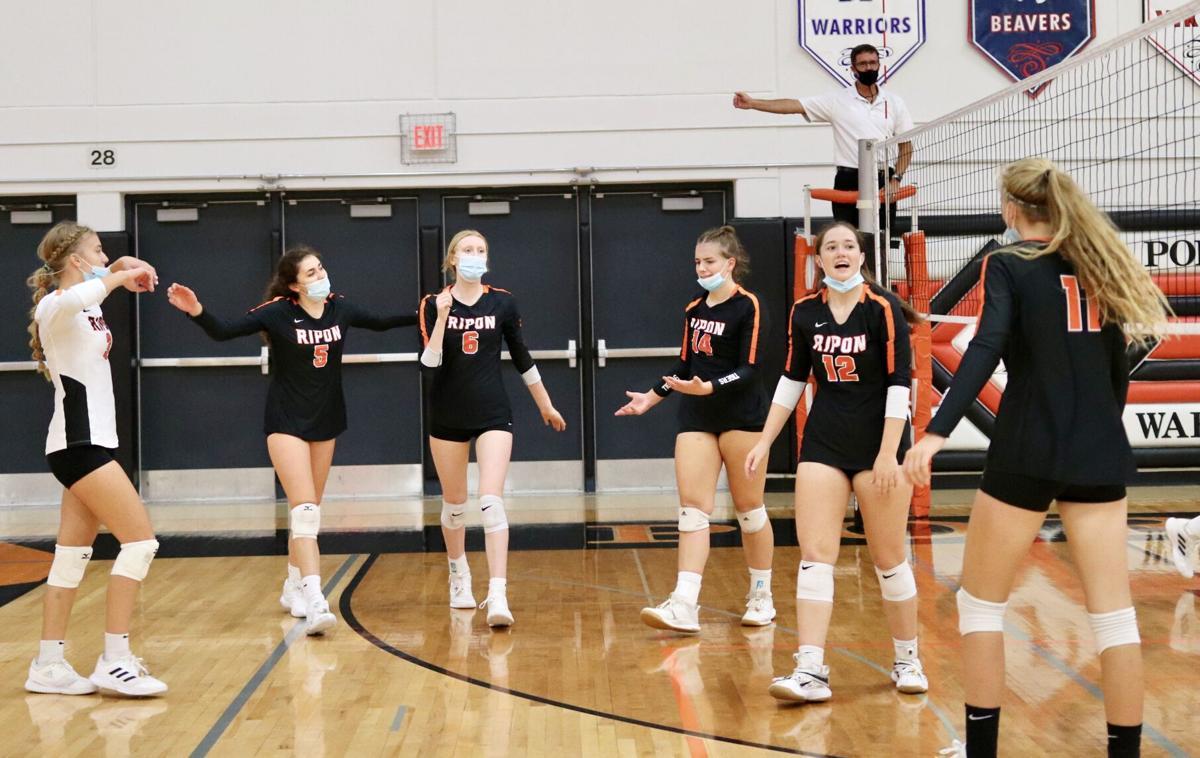 Ripon High School volleyball at Portage Invitational — Oct. 2, 2021.jpg