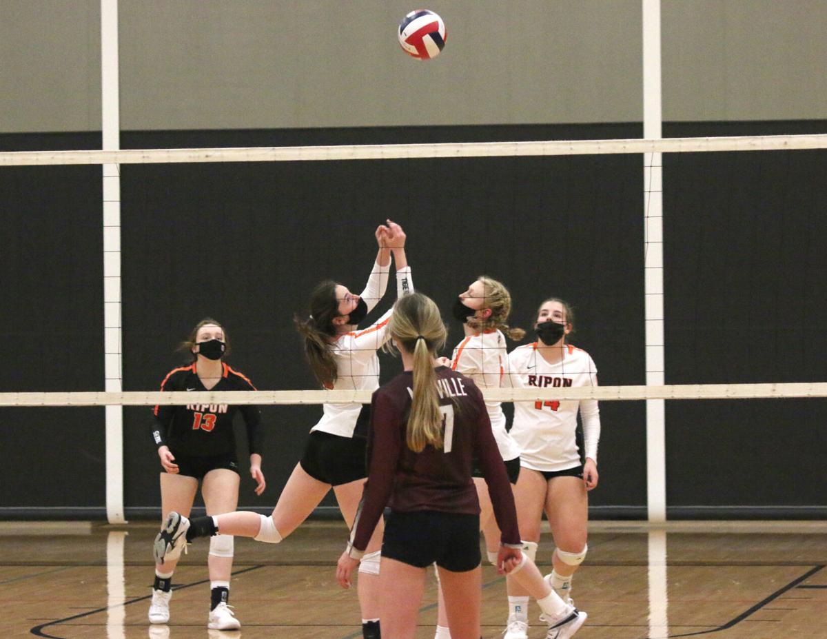 Ripon High School volleyball vs. Mayville — March 16, 2021 (1).JPG