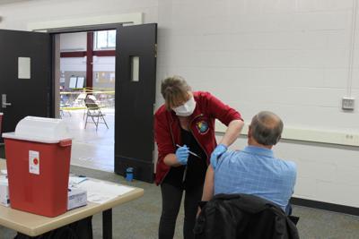 Photos: Green Lake County vaccinates 420 people at Berlin Armory