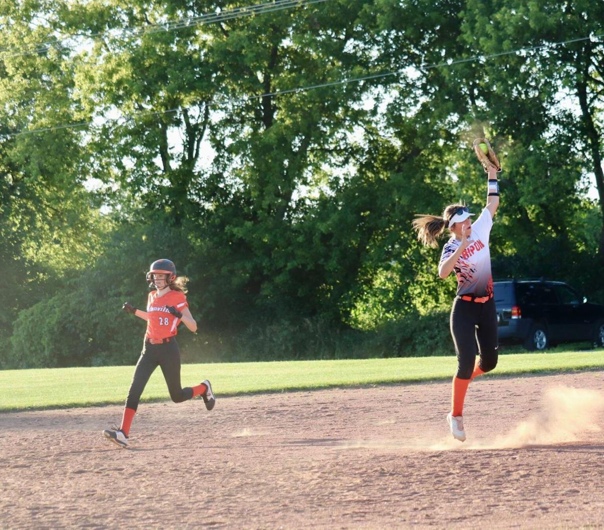 RHS softball vs. Clintonville-1