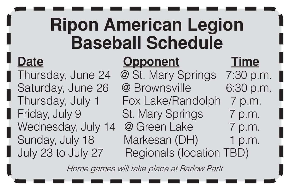 Legion Schedule