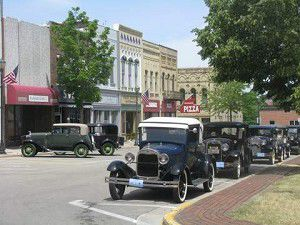 Model A's descend on downtown