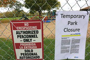 Park closed for chemical clean-up