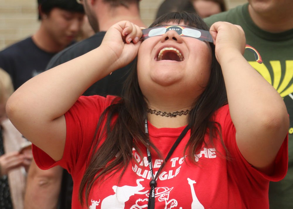 Ripon eclipsed: Ripon community comes together on college campus to witness stellar event
