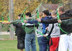 Green Lake students enjoy new archery equipment