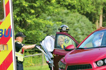 One injured in Tuesday crash