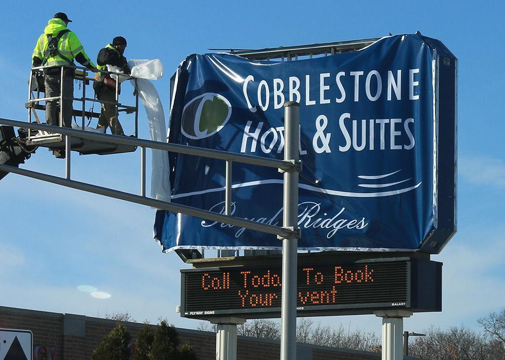 Comfort Suites is rebranded now as Cobblestone Suites