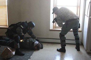Area tactical unit uses downtown Ripon for training