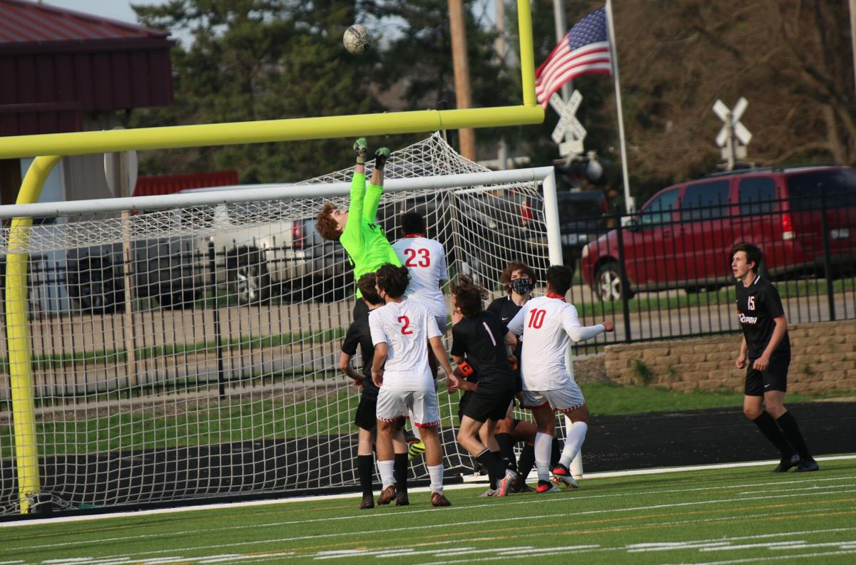 Ripon High School boys' soccer vs. Wayland Academy — April 7, 2021 (11).JPG