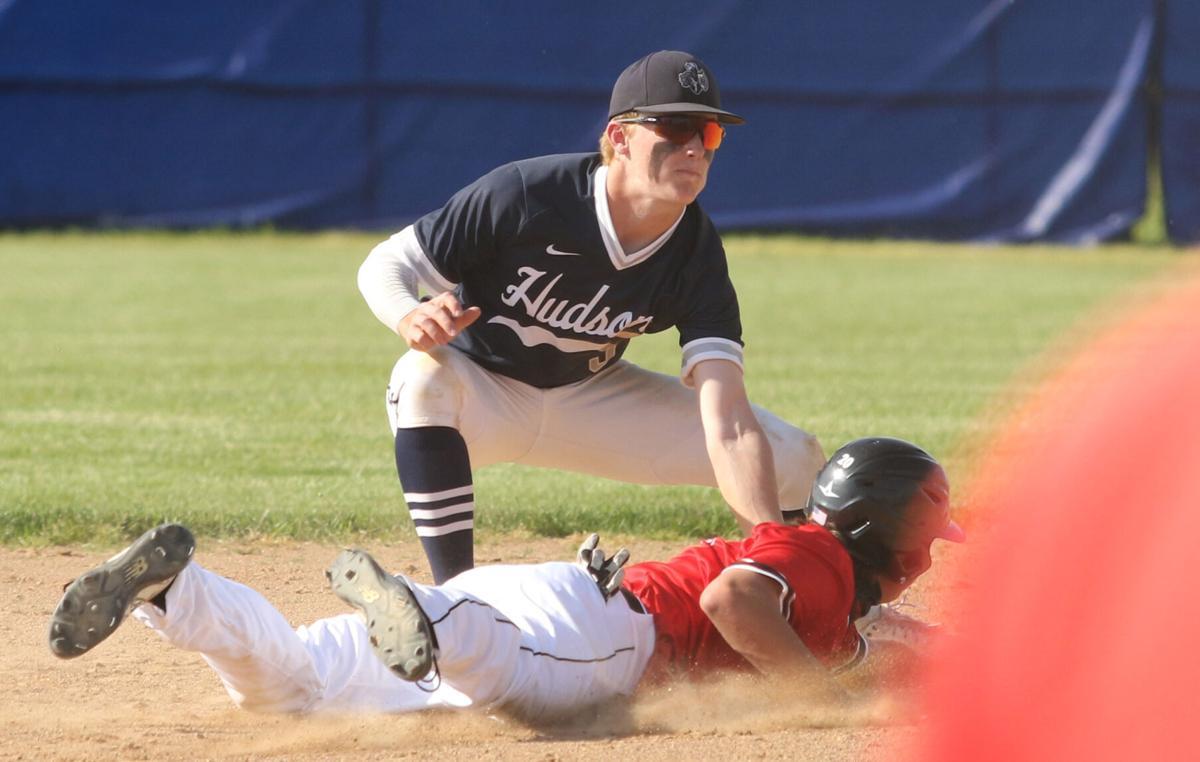 Hudson shortstop Jake Busson