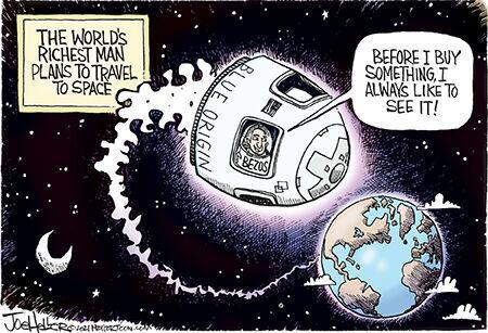 Editorial cartoon Joe Heller space travel.jpg