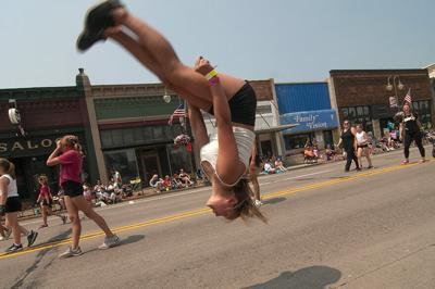 Flipping over the New Richmond Fun Fest parade
