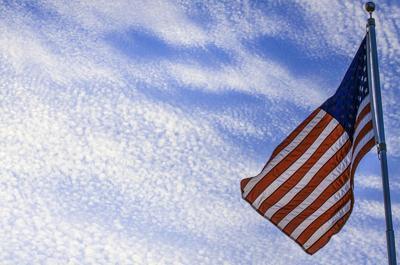 American flag RTSA sky