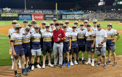 Alex Call and River Falls American Legion Post 121 baseball team