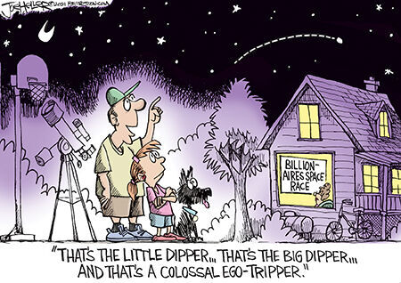 Editorial cartoon Joe Heller space billionaires.jpg
